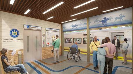 Rendering of the vestibule at the new train