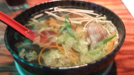 Clam soup at Taiko Sushi in Massapequa