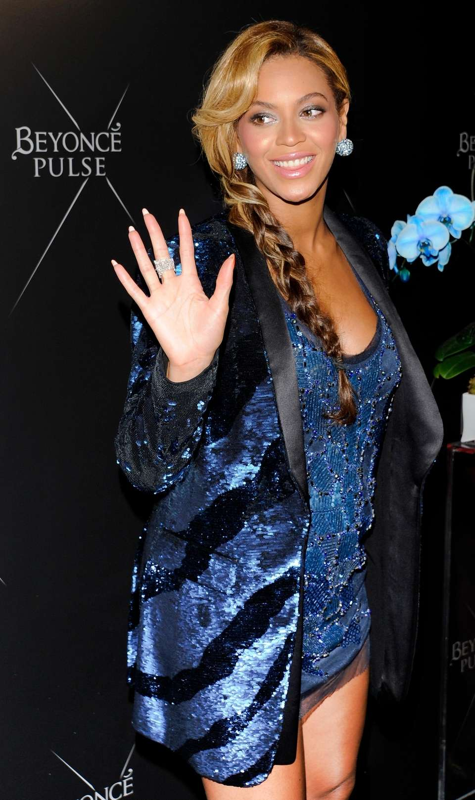 Beyoncé dresses in Roberto Cavalli while attending the