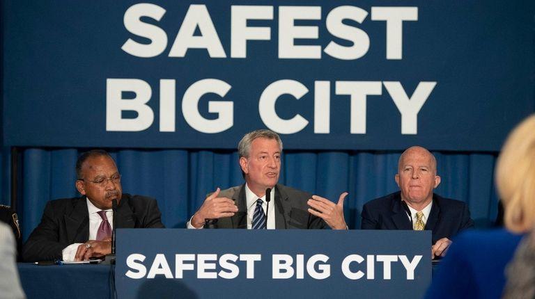 NYPD First Deputy Commissioner Benjamin Tucker, Mayor Bill