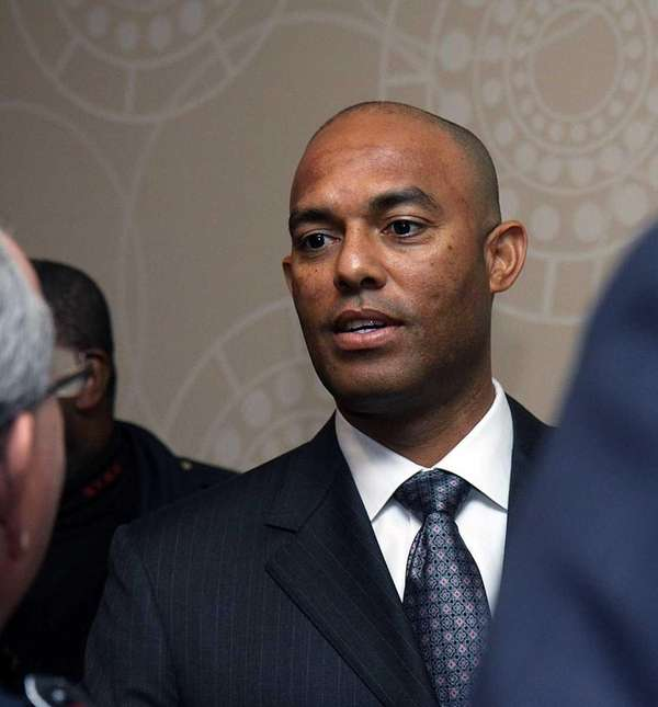 Mariano Rivera arrives in Midtown Manhattan to receive