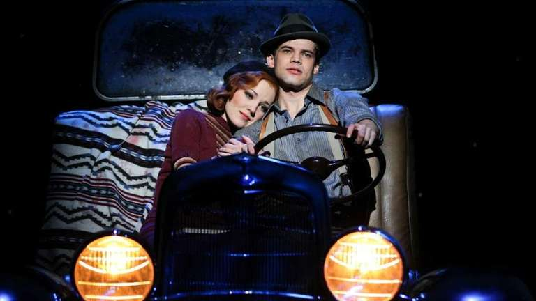 Laura Osnes, left, and Jeremy Jordan in the