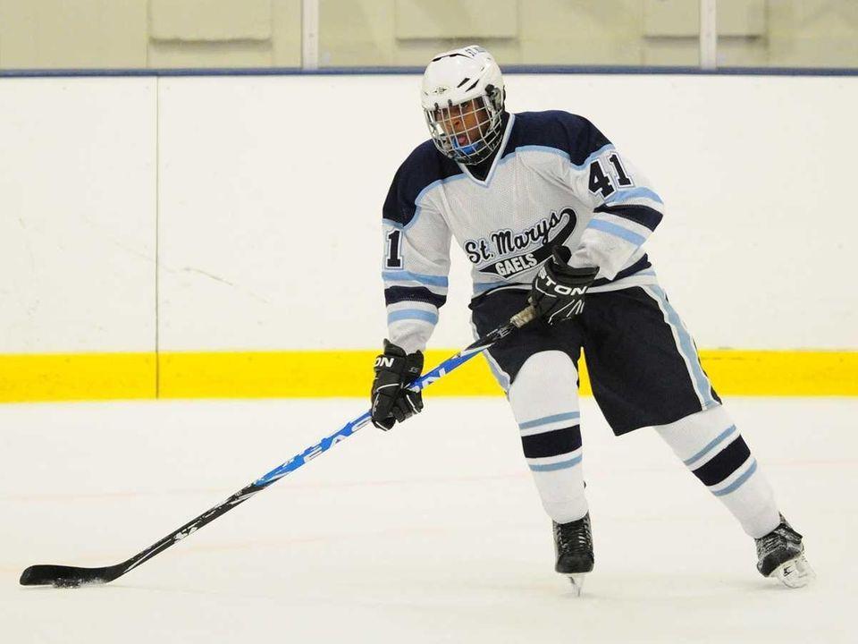 St. Mary's High School defenseman #41 Caleb Williamson