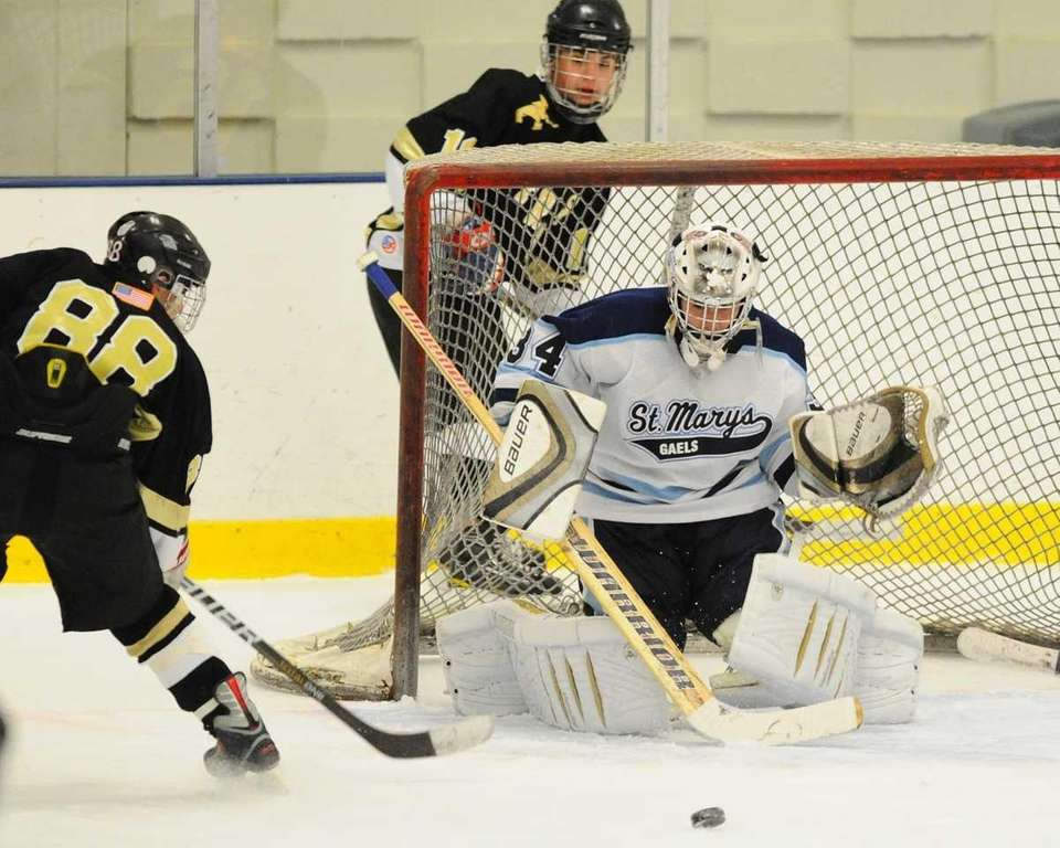 St. Mary's High School goalie #34 Vito Anteri