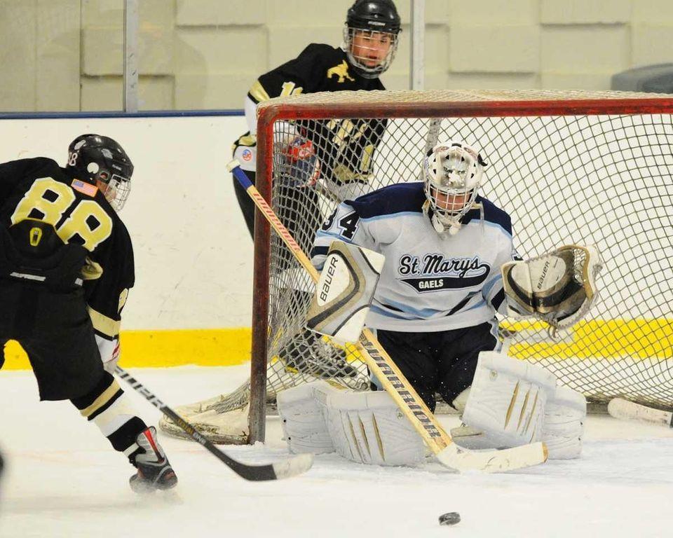 St. Mary's High School goalie #34 Vito Anteri