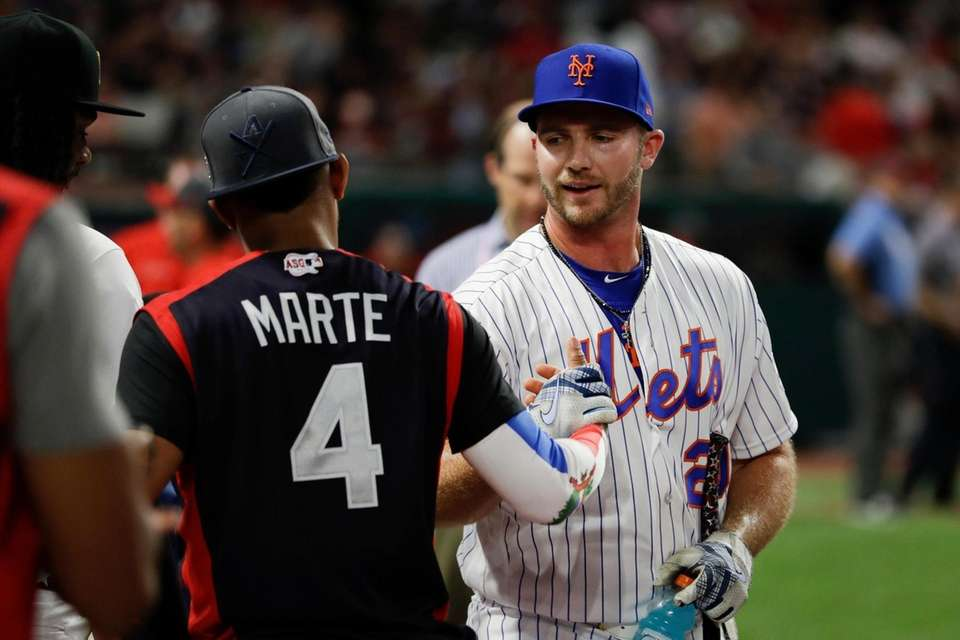 Pete Alonso, of the New York Mets, is