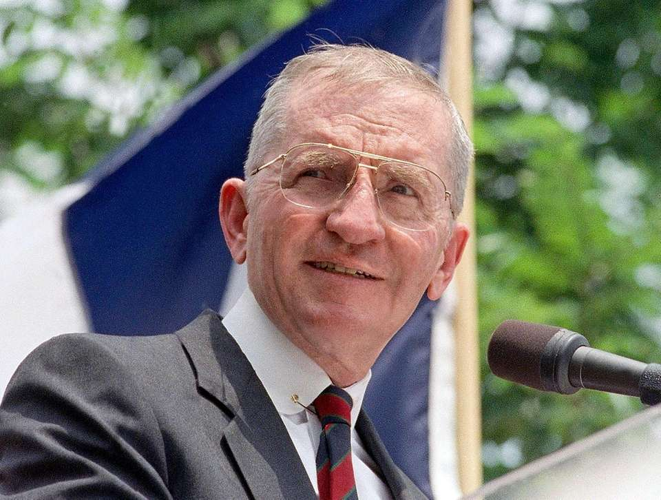 H. Ross Perot, the colorful, self-made Texas billionaire
