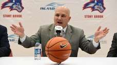 Stony Brook men's basketball head coach Geno Ford