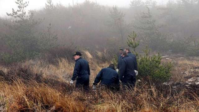 New York State Police search brush near Field