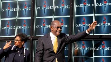 Republican candidate for the presidential nomination, Herman Cain,