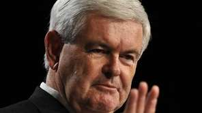US Republican presidential hopeful former House Speaker Newt