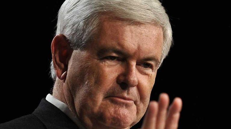 US Republican presidential hopeful former House Speaker Newt