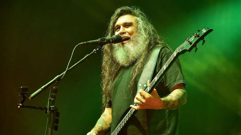 Tom Araya of Slayer performs at The