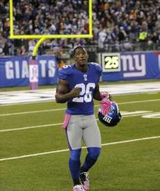 New York Giants' Antrel Rolle before the first