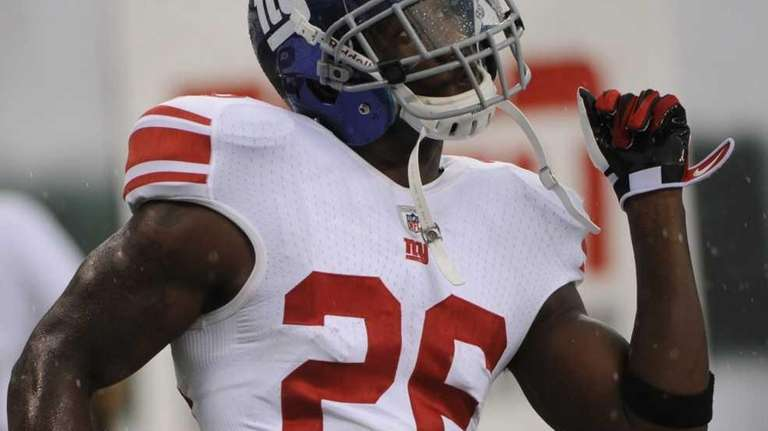 New York Giants safety Antrel Rolle practices before