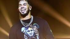 Anuel AA performs at United Palace Theater in