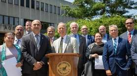 Members of the Suffolk County Legislature's Republican caucus