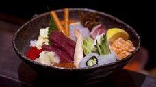 The chirashi bowl at the now-closed Nagashima in