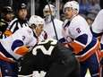 New York Islanders defenseman Travis Hamonic (3), of
