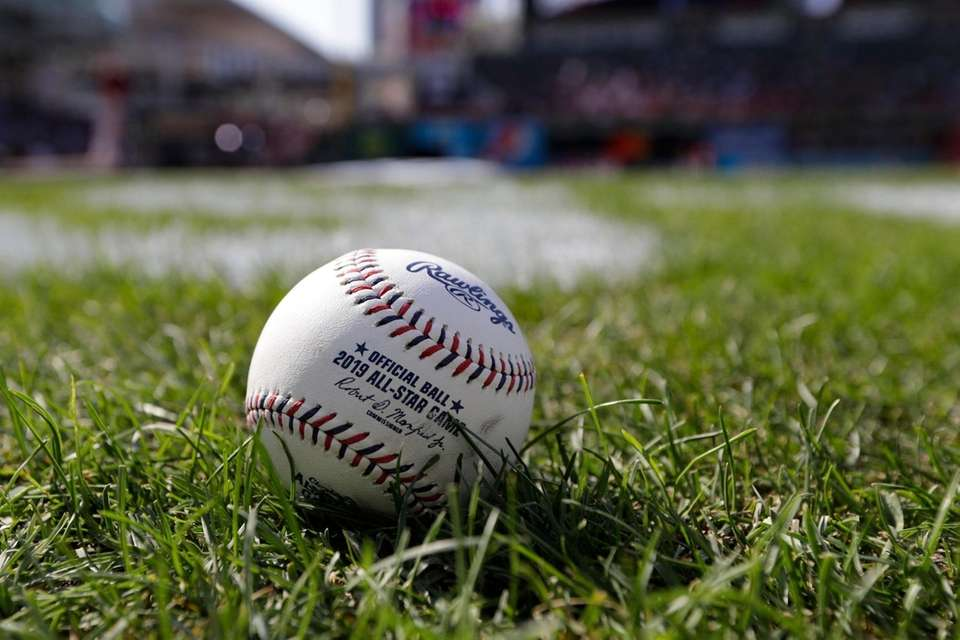 A baseball is pictured as the American League