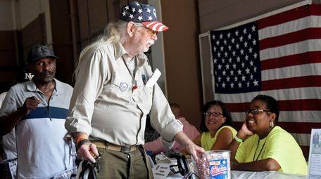Army veteran Lou Corrado, 76, was among hundreds