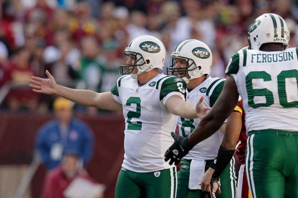 Nick Folk of the New York Jets celebrates