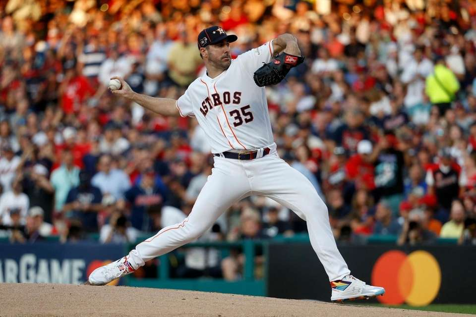 American League starting pitcher Justin Verlander, of the
