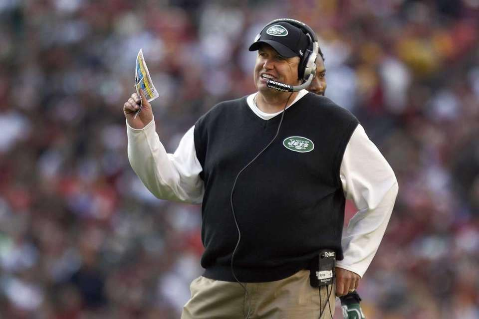 New York Jets coach Rex Ryan reacts to