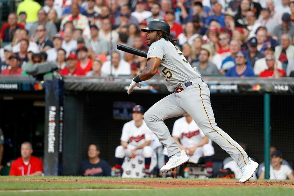 National League's Josh Bell, of the Pittsburgh Pirates,