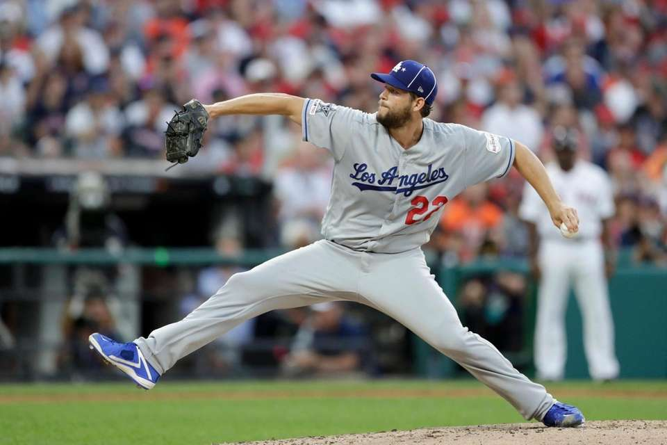 National League pitcher Clayton Kershaw, of the Los