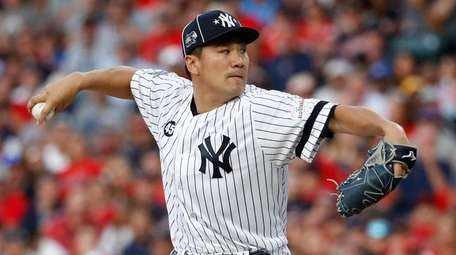 American League pitcher Masahiro Tanaka, of the Yankees,