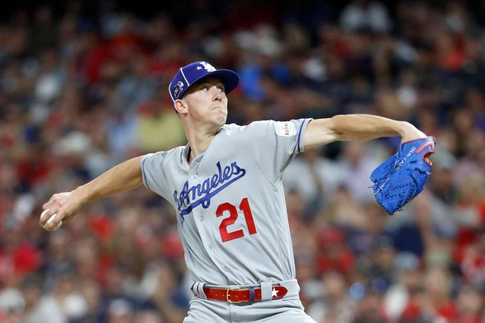 National League pitcher Walker Buehler, of the Los