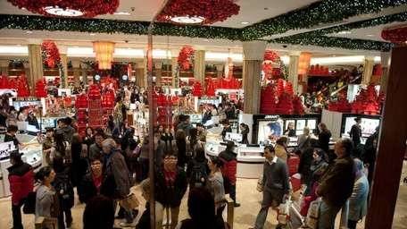 Macy's in New York City is a buzz