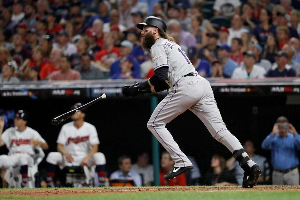 National League's Charlie Blackmon, of the Colorado Rockies,