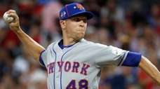 National League pitcher Jacob deGrom, of the Mets,
