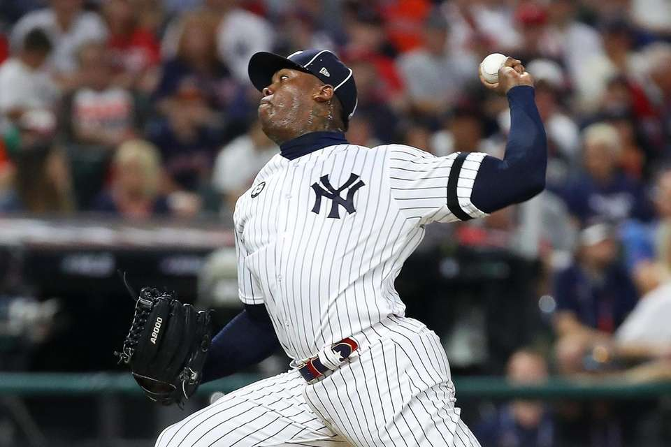 Yankees closer Aroldis Chapman of the American League