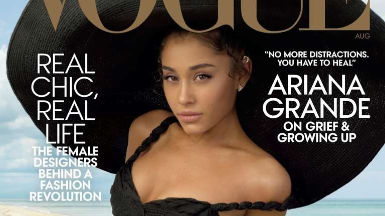 Ariana Grande appears on the cover of the