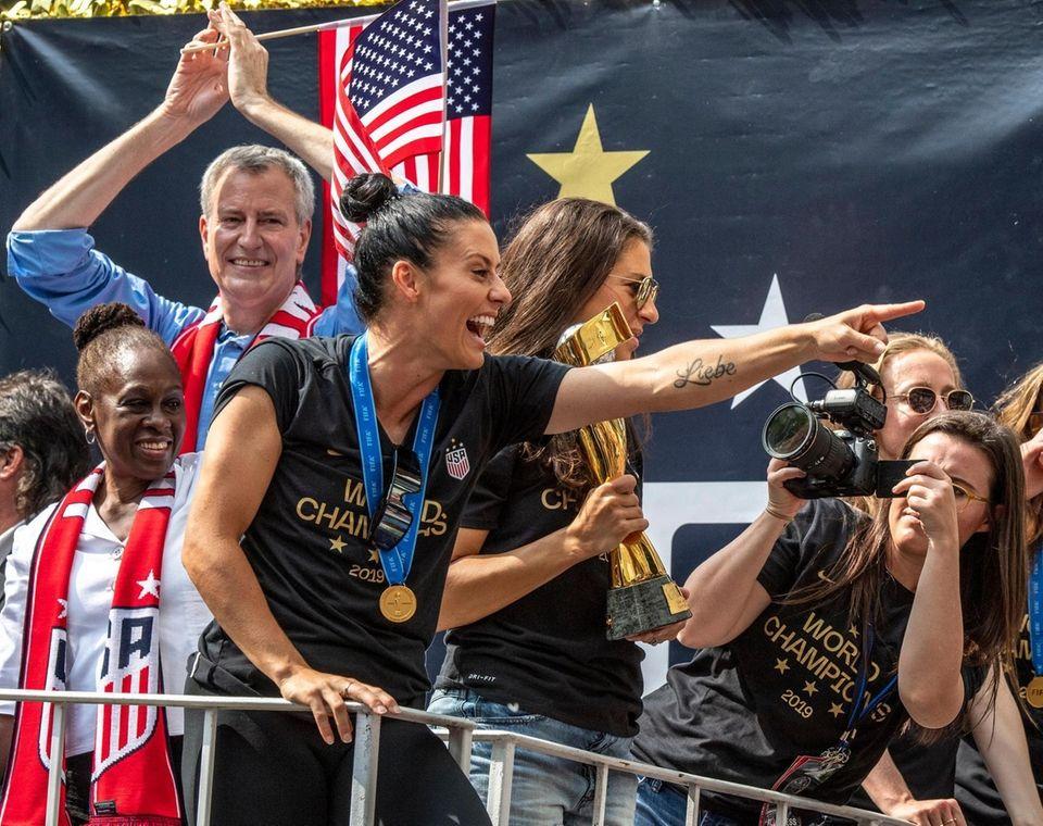 Members of the U.S. Women's National Soccer Team's