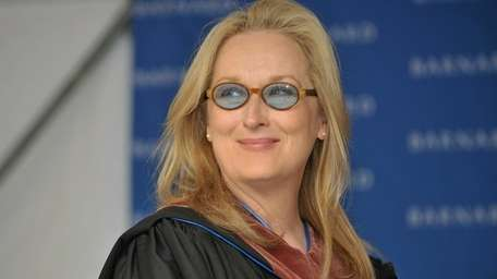 Actress Meryl Streep attends the Barnard College Commencement