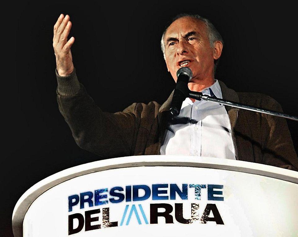 Former Argentine President Fernando de la Rúa, who
