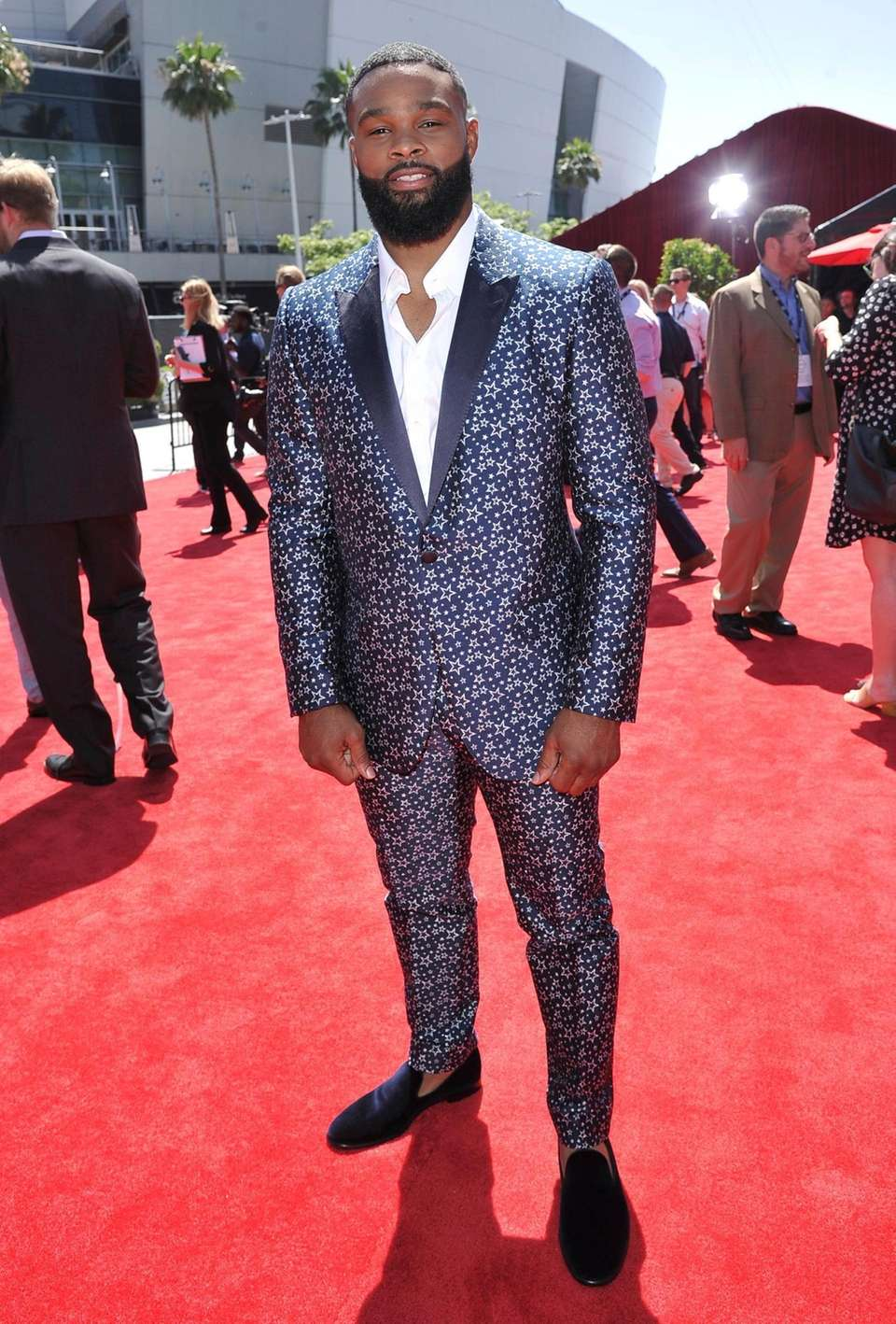 UFC fighter Tyron Woodley arrives at the ESPY