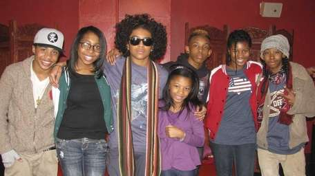 The group Mindless Behavior (from left) Roc Royal,