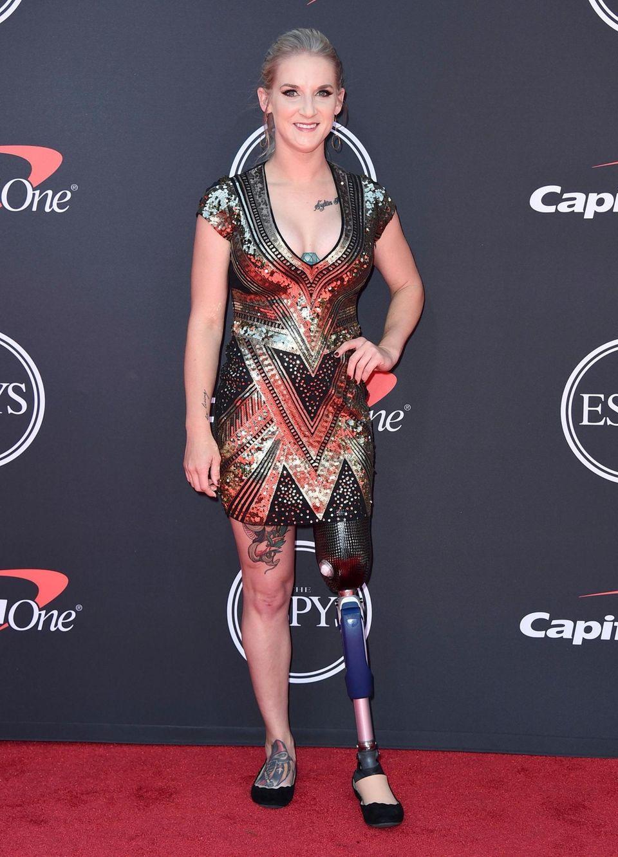 Kirstie Ennis arrives at the ESPY Awards on