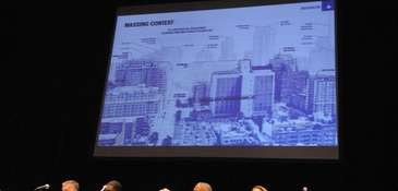 General scenes of the City Planning Commission hearing
