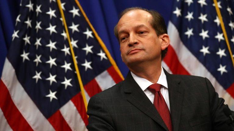 Labor Secretary Alex Acosta on Wednesday in Washington.