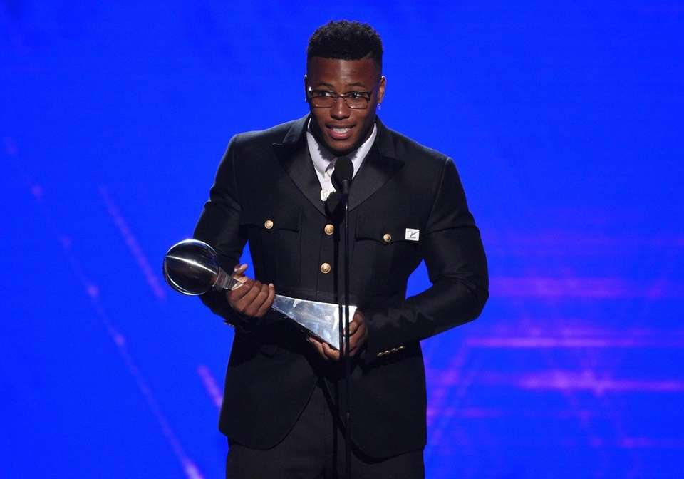 Giants running back Saquon Barkley accepts the best