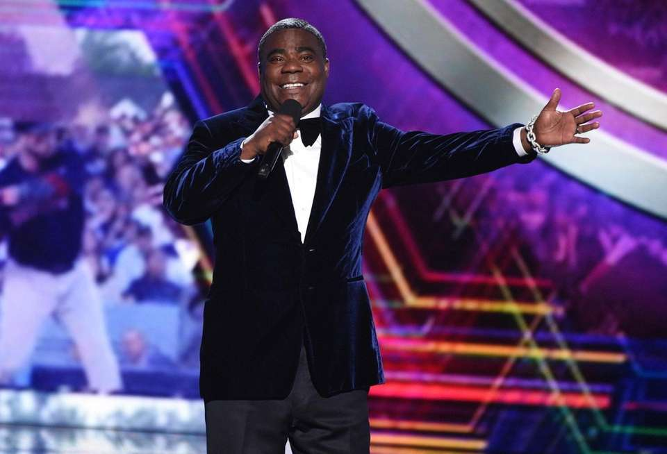 Host Tracy Morgan speaks on stage at the