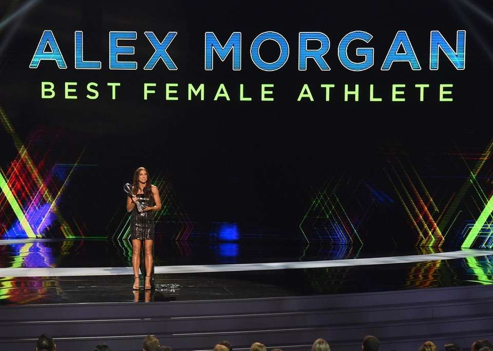 Alex Morgan, a member of the U.S women's