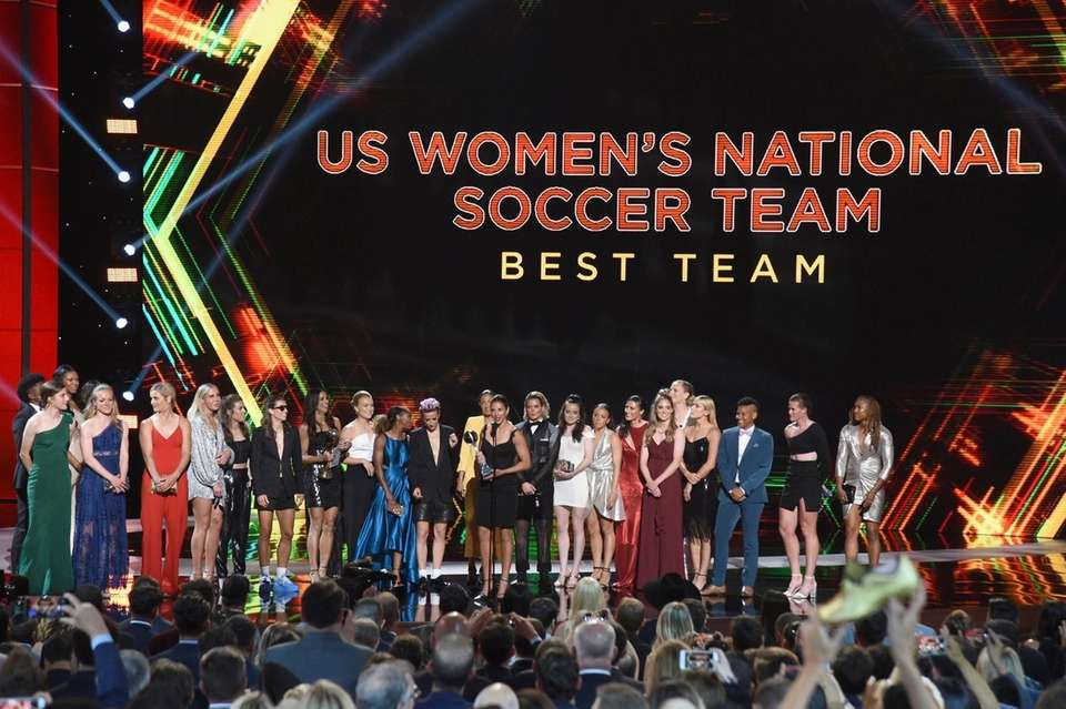 The U.S. women's national soccer team accepts the