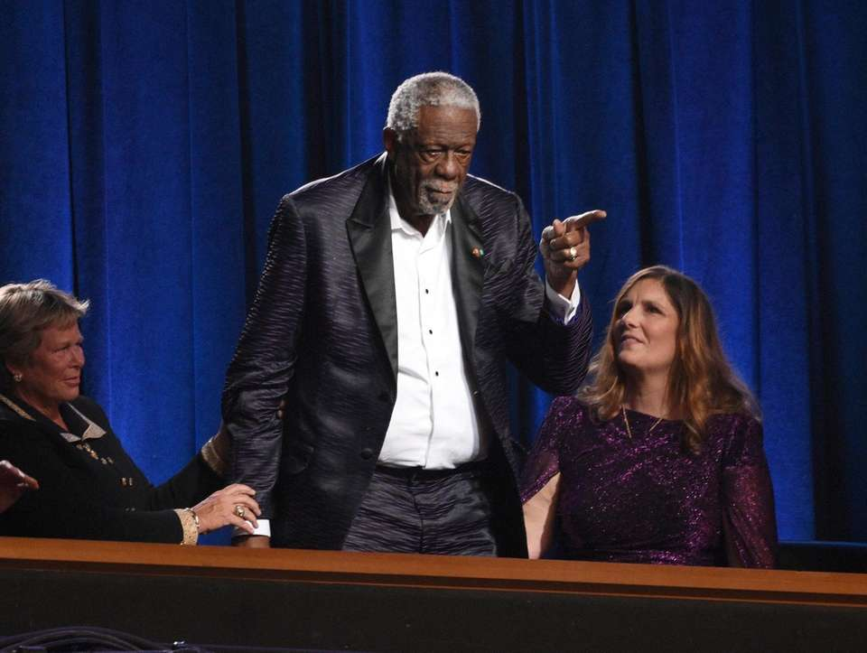 Bill Russell accepts the Arthur Ashe award for